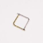 ¥5,000 Simples リングバイカラー【シカク】 (S6001)